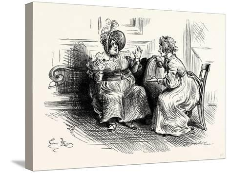Charles Dickens Sketches by Boz Mrs. Bloss and Mis. Tibbs-George Cruikshank-Stretched Canvas Print