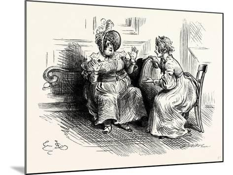 Charles Dickens Sketches by Boz Mrs. Bloss and Mis. Tibbs-George Cruikshank-Mounted Giclee Print