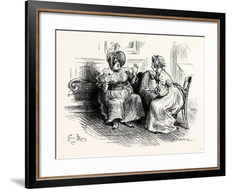Charles Dickens Sketches by Boz Mrs. Bloss and Mis. Tibbs-George Cruikshank-Framed Art Print