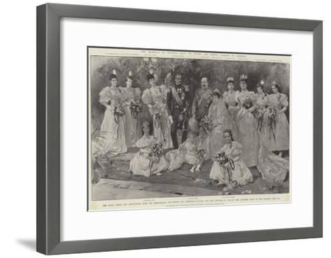 The Marriage of Princess Maud of Wales and Prince Charles of Denmark-G.S. Amato-Framed Art Print