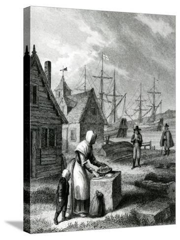 The Watermans Wife, Published in 1835-George Cruikshank-Stretched Canvas Print