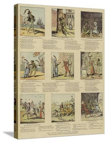 The Loving Ballad of Lord Bateman-George Cruikshank-Stretched Canvas Print
