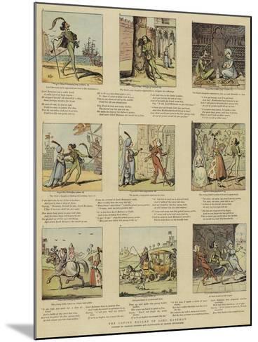 The Loving Ballad of Lord Bateman-George Cruikshank-Mounted Giclee Print