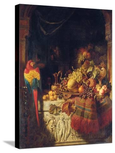 The Burgomaster's Dessert, 1860-George Lance-Stretched Canvas Print