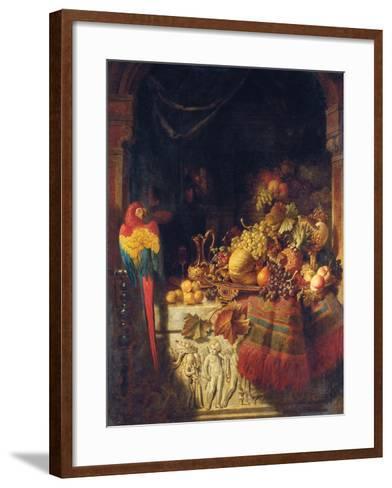 The Burgomaster's Dessert, 1860-George Lance-Framed Art Print