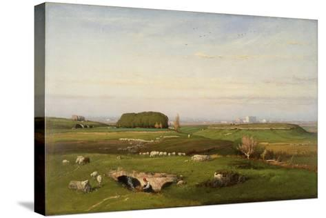 In the Roman Campagna, 1873-George Snr^ Inness-Stretched Canvas Print