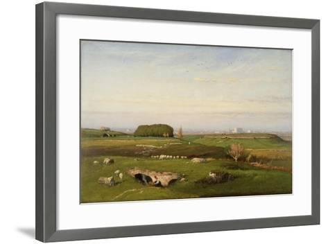 In the Roman Campagna, 1873-George Snr^ Inness-Framed Art Print