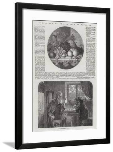 Exhibition of the British Institution-George Lance-Framed Art Print