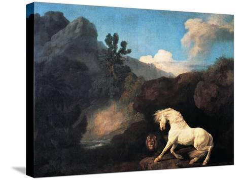 A Horse Frightened by a Lion, 1770-George Stubbs-Stretched Canvas Print