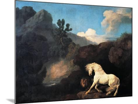 A Horse Frightened by a Lion, 1770-George Stubbs-Mounted Giclee Print