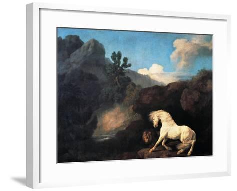 A Horse Frightened by a Lion, 1770-George Stubbs-Framed Art Print