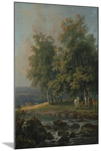 Horses and Cattle by a River, 1777-George the Elder Barret-Mounted Giclee Print