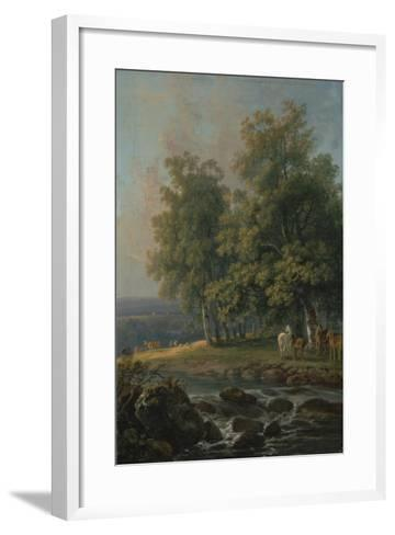 Horses and Cattle by a River, 1777-George the Elder Barret-Framed Art Print
