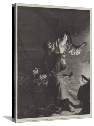 The Angel, Releasing St Peter from Prison-Gerrit van Honthorst-Stretched Canvas Print