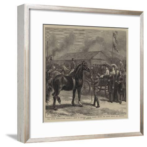 The Royal Agricultural Society's Show at Bedford-George Goodwin Kilburne-Framed Art Print