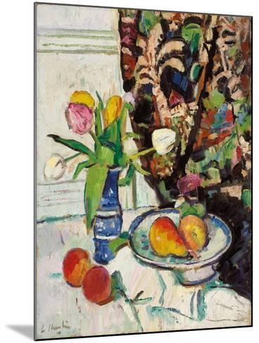 Still Life with Tulips and Fruit-George Leslie Hunter-Mounted Giclee Print