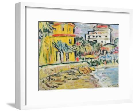 Mediterranean Town-George Leslie Hunter-Framed Art Print