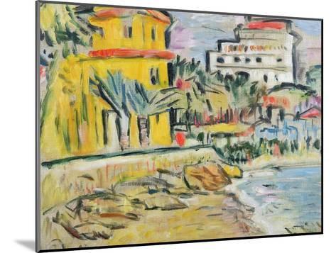 Mediterranean Town-George Leslie Hunter-Mounted Giclee Print