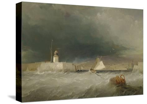 Port on a Stormy Day, 1835-George the Elder Chambers-Stretched Canvas Print