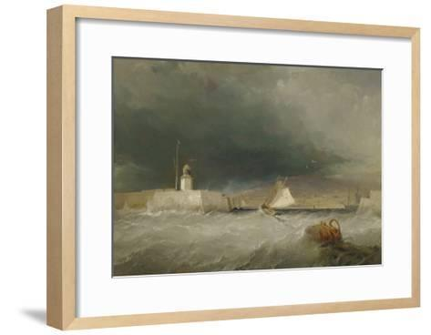 Port on a Stormy Day, 1835-George the Elder Chambers-Framed Art Print