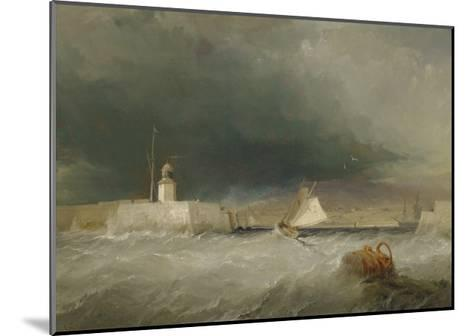 Port on a Stormy Day, 1835-George the Elder Chambers-Mounted Giclee Print