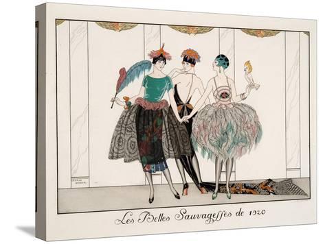 Les Belles Sauvagesses De 1920-Georges Barbier-Stretched Canvas Print