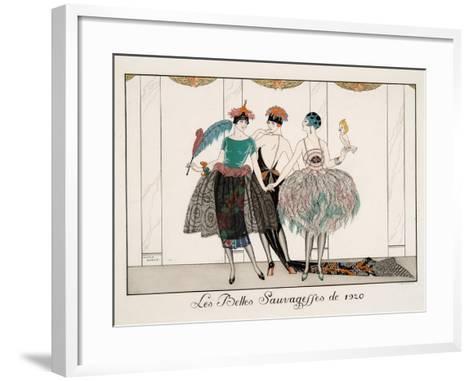 Les Belles Sauvagesses De 1920-Georges Barbier-Framed Art Print