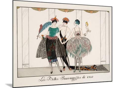 Les Belles Sauvagesses De 1920-Georges Barbier-Mounted Giclee Print