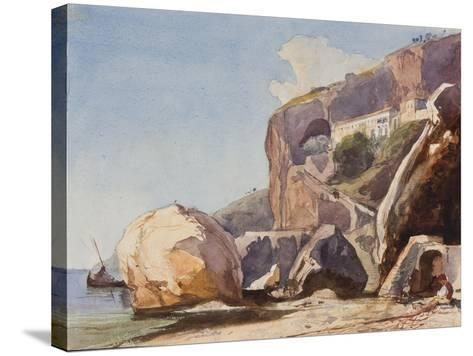 The Capuchin Monastery at Amalfi from the Beach-Giacinto Gigante-Stretched Canvas Print