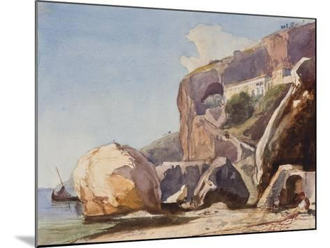 The Capuchin Monastery at Amalfi from the Beach-Giacinto Gigante-Mounted Giclee Print