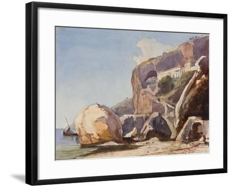 The Capuchin Monastery at Amalfi from the Beach-Giacinto Gigante-Framed Art Print