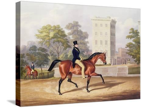The Marquis of Anglesea on Horseback in Hyde Park, in His 80th Year, Engraved by J. Harris, 1847-George Henry Laporte-Stretched Canvas Print