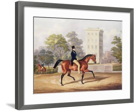 The Marquis of Anglesea on Horseback in Hyde Park, in His 80th Year, Engraved by J. Harris, 1847-George Henry Laporte-Framed Art Print