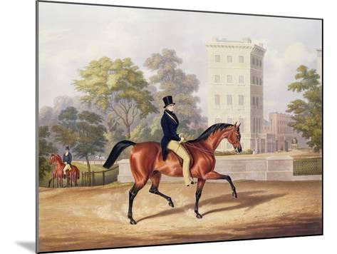The Marquis of Anglesea on Horseback in Hyde Park, in His 80th Year, Engraved by J. Harris, 1847-George Henry Laporte-Mounted Giclee Print