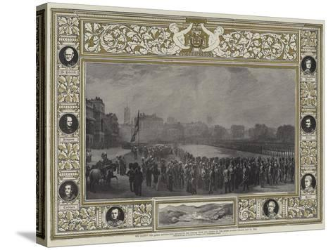 Her Majesty the Queen Distributing Medals to the Heroes from the Crimea on the Horse Guards Parade-George Housman Thomas-Stretched Canvas Print