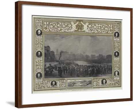 Her Majesty the Queen Distributing Medals to the Heroes from the Crimea on the Horse Guards Parade-George Housman Thomas-Framed Art Print