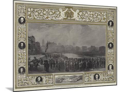 Her Majesty the Queen Distributing Medals to the Heroes from the Crimea on the Horse Guards Parade-George Housman Thomas-Mounted Giclee Print