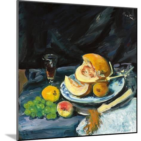 Still Life with Cut Melon, Glass and Fan, C. 1920-George Leslie Hunter-Mounted Giclee Print