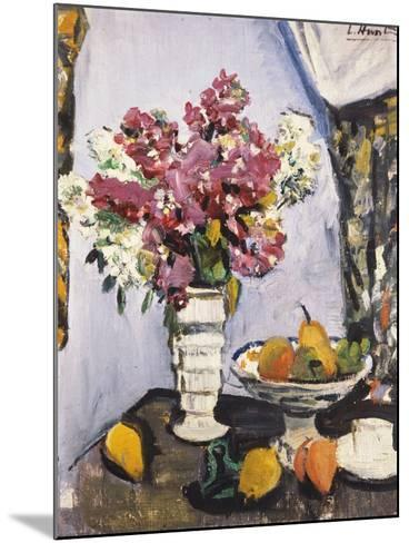 Summer Blossom and a Bowl of Fruit, with a Cup and Saucer-George Leslie Hunter-Mounted Giclee Print