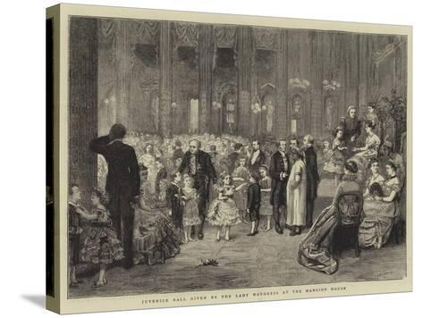 Juvenile Ball Given by the Lady Mayoress at the Mansion House-George Goodwin Kilburne-Stretched Canvas Print
