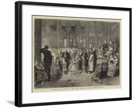 Juvenile Ball Given by the Lady Mayoress at the Mansion House-George Goodwin Kilburne-Framed Art Print