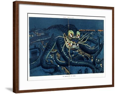 The Menace of the Hour, 1889-George Luks-Framed Art Print