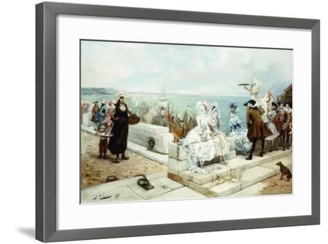 Elegant Figures Watching the Regatta, 1889-Georges Clairin-Framed Art Print