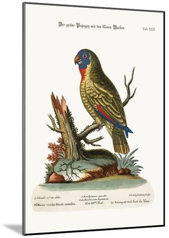 The Blue-Faced Green Parrot, 1749-73-George Edwards-Mounted Giclee Print