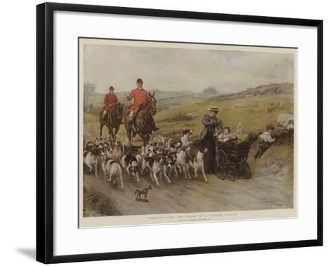 Fearful Odds! the Perils of a Hunting Country-George Goodwin Kilburne-Framed Art Print