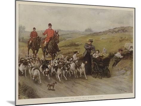 Fearful Odds! the Perils of a Hunting Country-George Goodwin Kilburne-Mounted Giclee Print