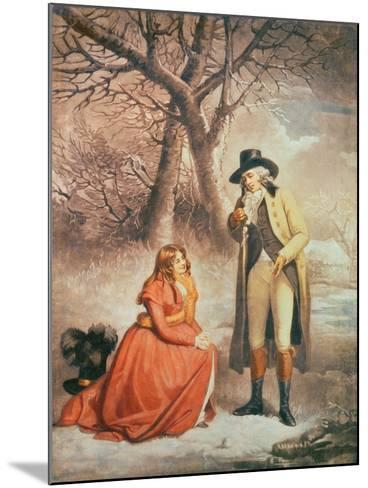 Gentleman and Woman in a Wintry Scene-George Morland-Mounted Giclee Print