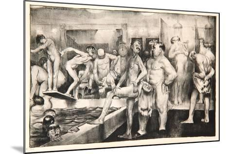 The Shower-Bath, 1917-George Wesley Bellows-Mounted Giclee Print