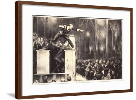 Billy Sunday, 1923-George Wesley Bellows-Framed Art Print