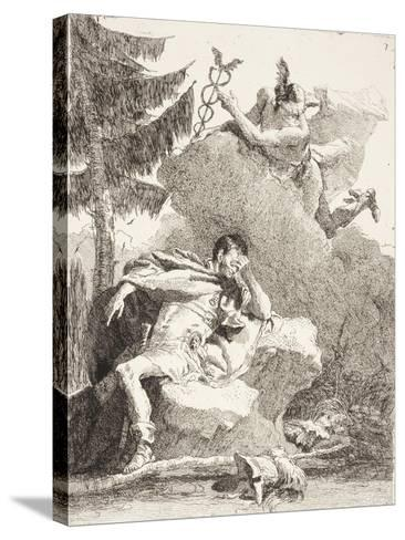 Mercury Appears to Æneas in a Dream, C.1770-Giandomenico Tiepolo-Stretched Canvas Print
